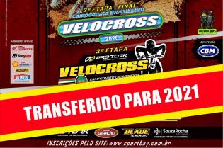 CBM e FCM transferem a prova válida pelas etapas finais do respectivos campeonatos Velocross para 2021